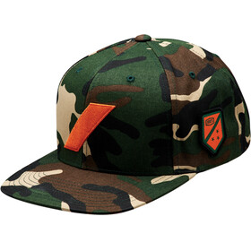 100% Strikeforce Snapback Hat camo black/green